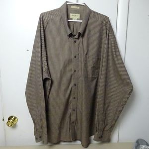 Eddie Bauer Shirt Long Sleeve Tall 3XL Button Men
